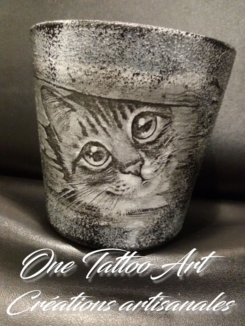 bougie personnalisée - one tattoo art - chat