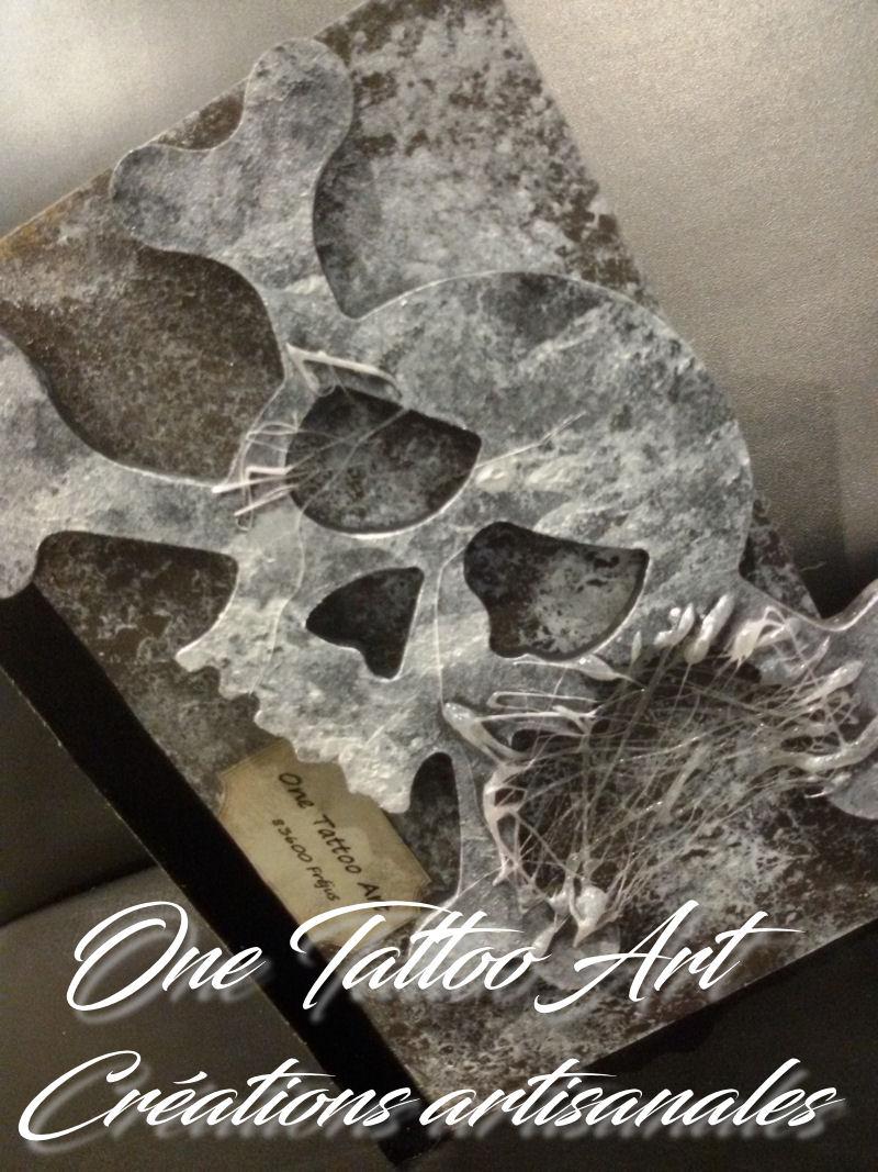 grimoire boite - idée cadeau tete de mort - skull - one tattoo