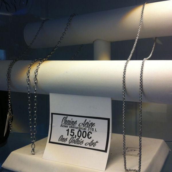Chaine Acier 316 L ( 2 longueur )