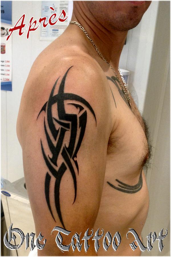 réparation tribal - One Tattoo Art. Après