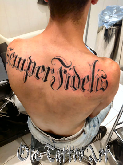 semper fidelis - One tattoo