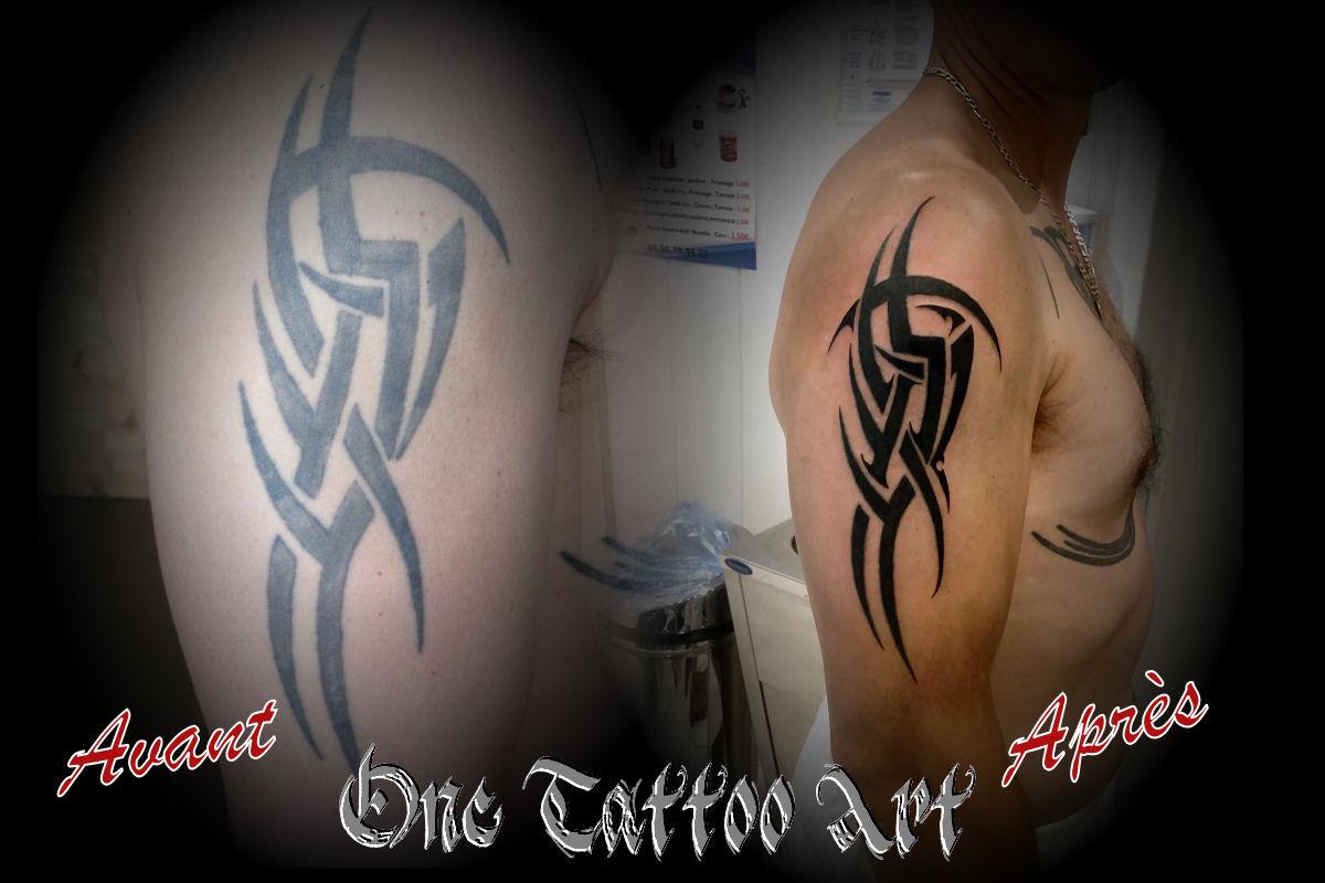 tribal réparation - One Tattoo Art