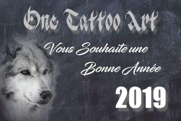 Bonne annee 2019 one tattoo art