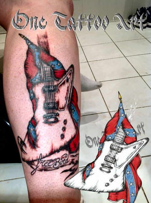 Guitare one tattoo 1