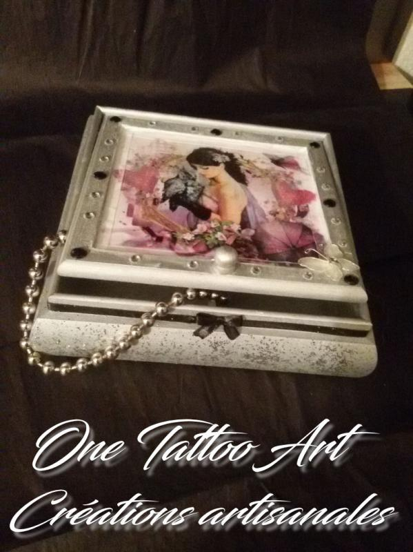 One tattoo art creation artisanale boite a bijoux idee cadeau