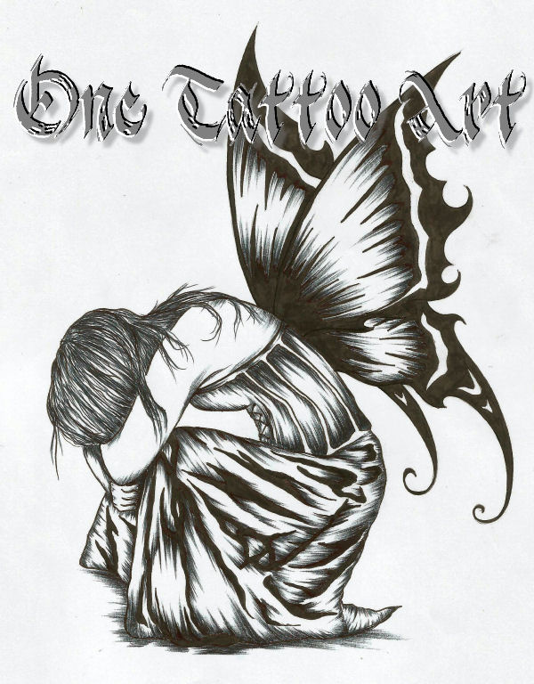 One tattoo gothica