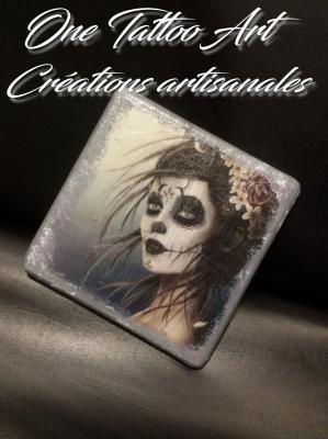 Sous verres calavera one tattoo art 1