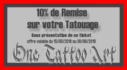 Ticket promo one tattoo art frejus