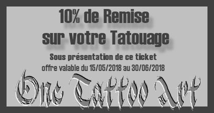 Ticket promo one tattoo art