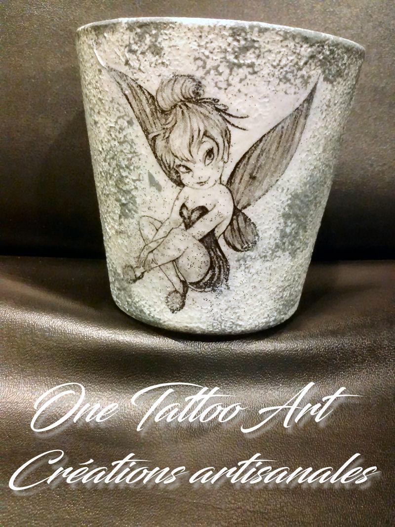 Bougie - one tattoo art création - Fée clochette