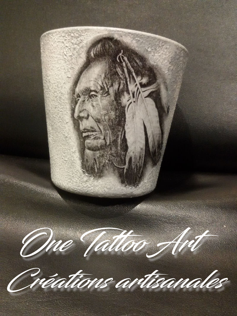 bougie personnalisée - indien-one tattoo art