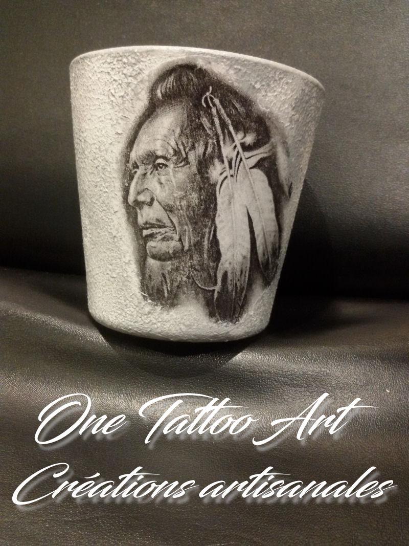 bougie personnalisée - indien-one tattoo art