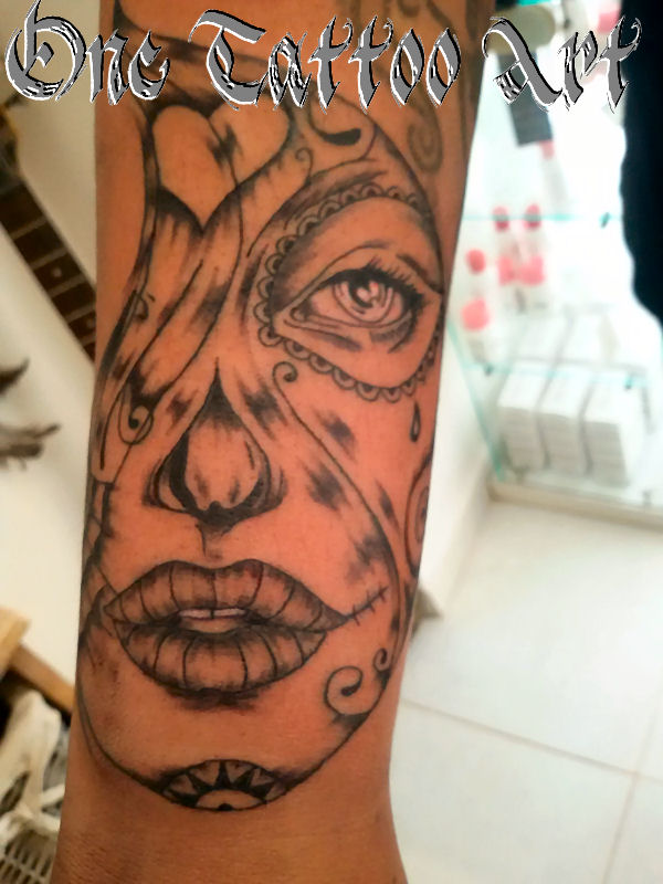 catrina tattoo - one tattoo rt
