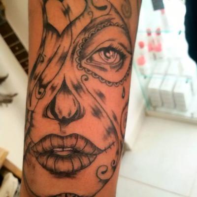 catrina tattoo - one tattoo rt