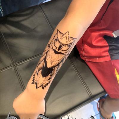 ephemere hiboux tattoo - one tattoo art