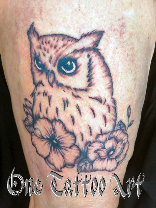 hiboux - one tattoo art