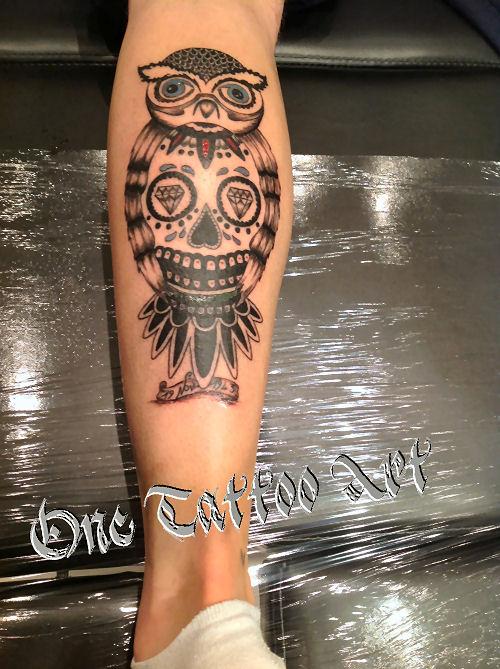 hiboux One tattoo art