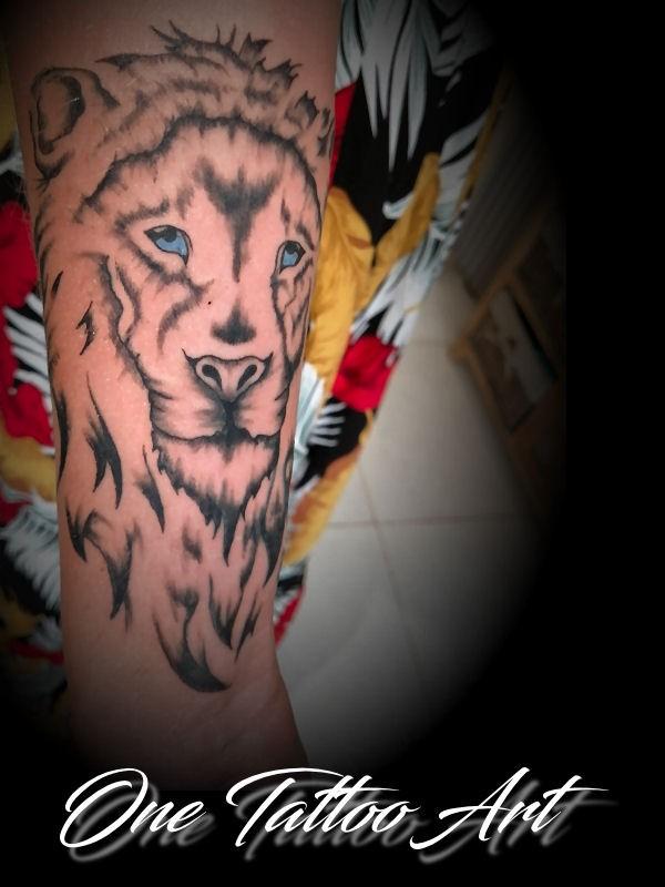 Lion one tattoo art 2