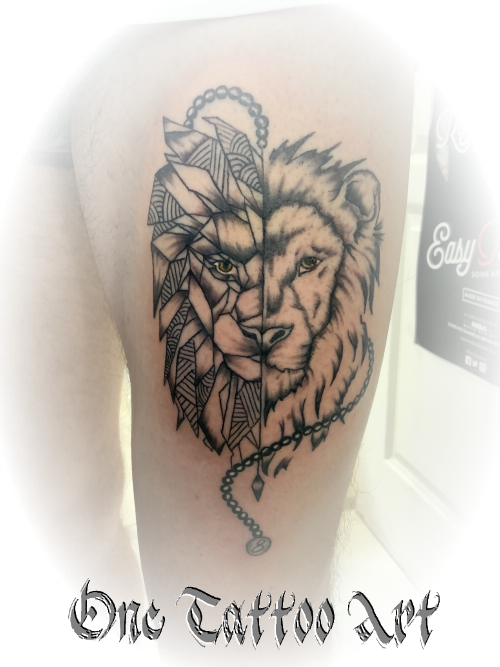 Lion tattoo one tattoo art