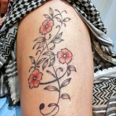 one tattoo art - clé de sol