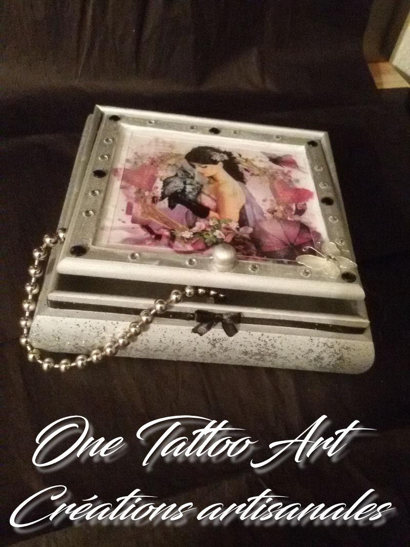 one tattoo art - création artisanale - boite à bijoux - idée cadeau