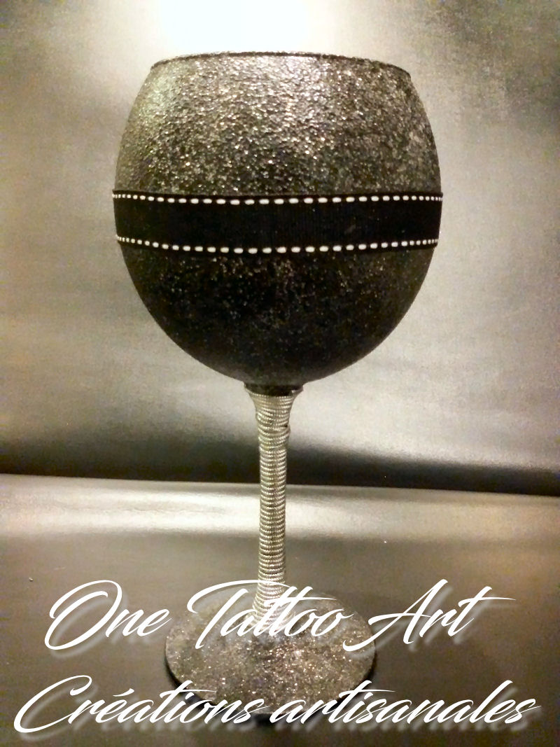 one tattoo art - idée cadeau - verres luxe décoration