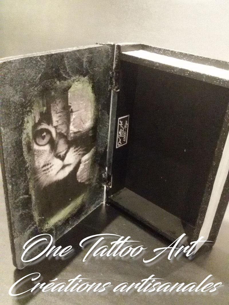 one tattoo art - idées cadeaux - boite chat