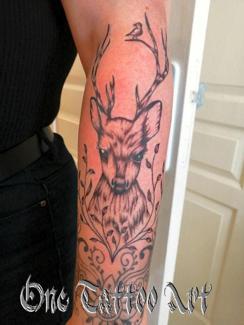 one tattoo art - tattoo cerf
