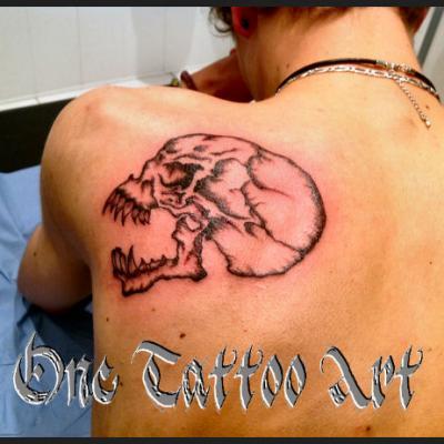 One tattoo - Crane goth