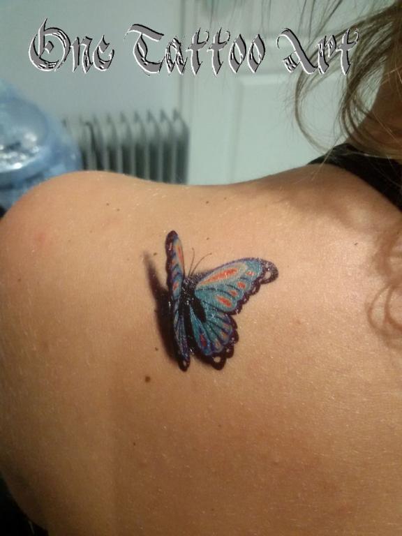 Papillon ephemere - one tattoo art