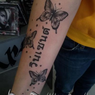 papillon - one tattoo art