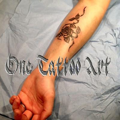 rose One tattoo art