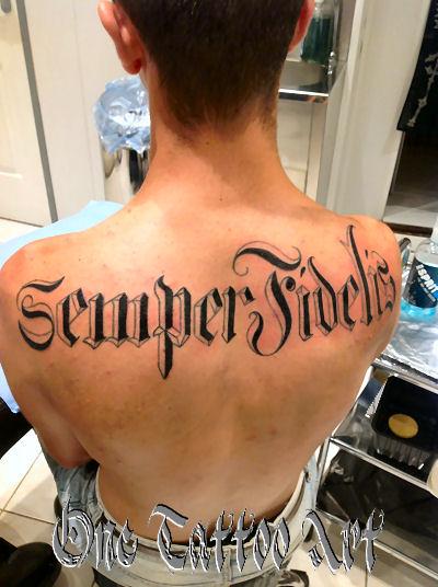 semper fidelis One tattoo art