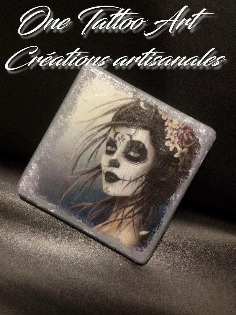 Sous-verres Calavera - one tattoo art