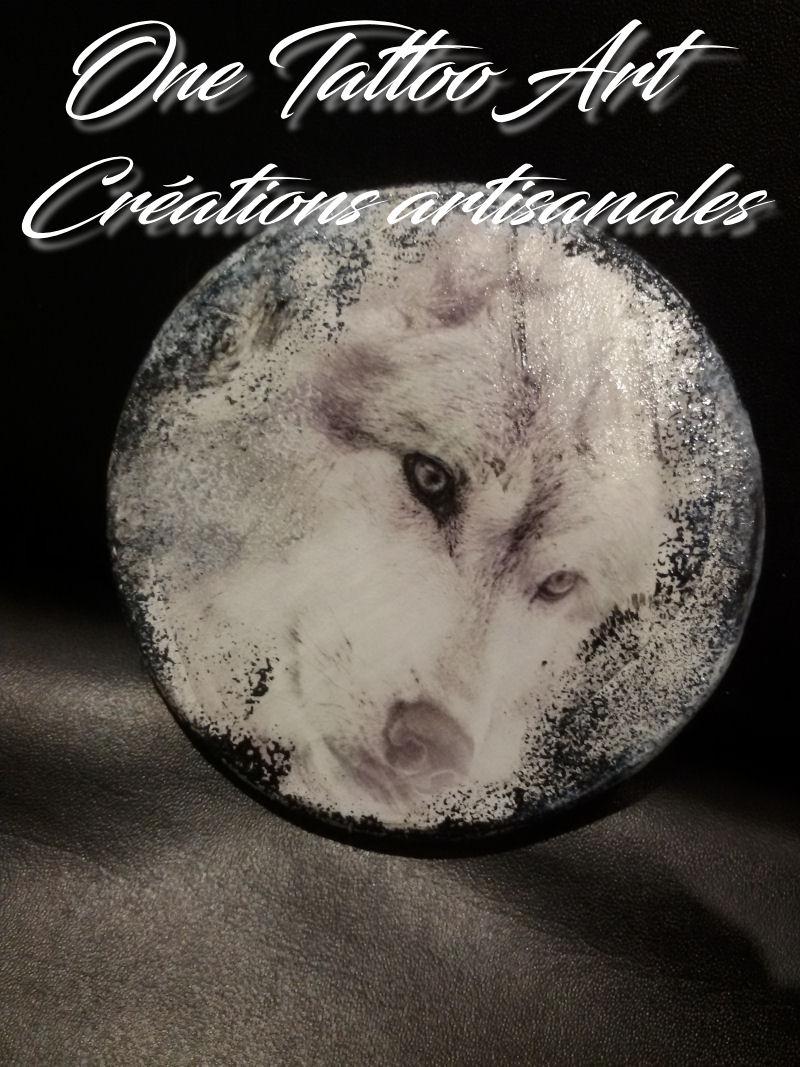 sous-verres - tete de loup - one tattoo art