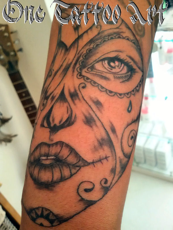 tatouage catrine muerta - one tattoo art