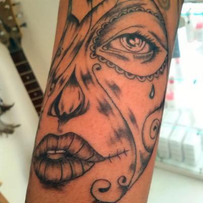 tatouage catrine muerta - one tattoo art